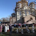 чин освящения надкупольных крестов строящегося храма в честь Торжества Православия