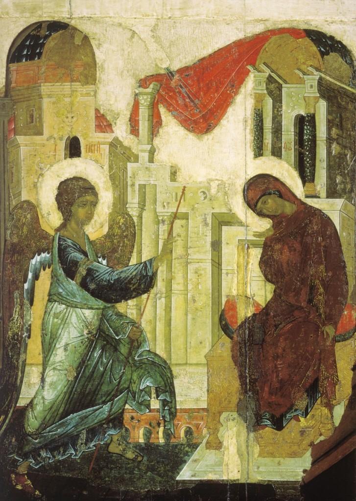 Благовещение- икона Благовещенского собора Московского Кремля